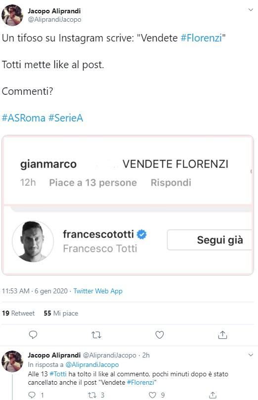 francesco totti like florenzi 1