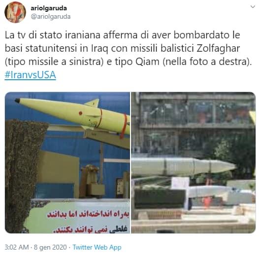 iran missili zolfaghar qiam