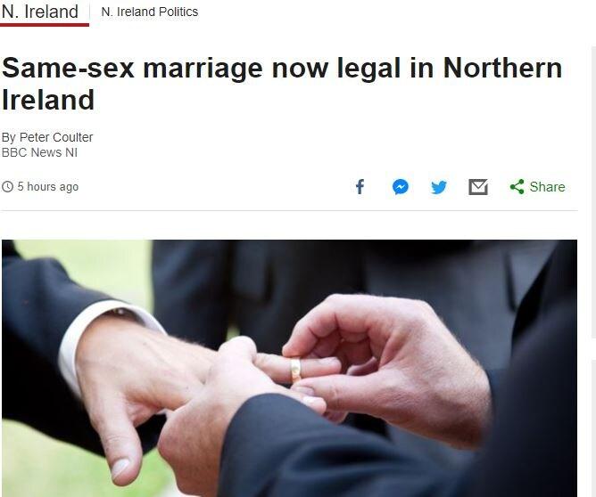 irlanda del nord matrimoni gay