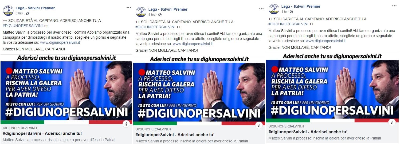 Il flop del Digiuno per Salvini che non piace ai fan della Lega