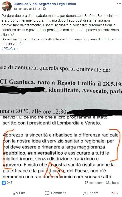 luca vinci borgonzoni sanità privata bonaccini - 1