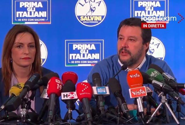 Matteo Salvini e «l'arroganza e la violenza nel voto in Emil