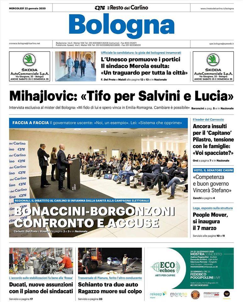 Mihajlovic sta con Salvini e Borgonzoni