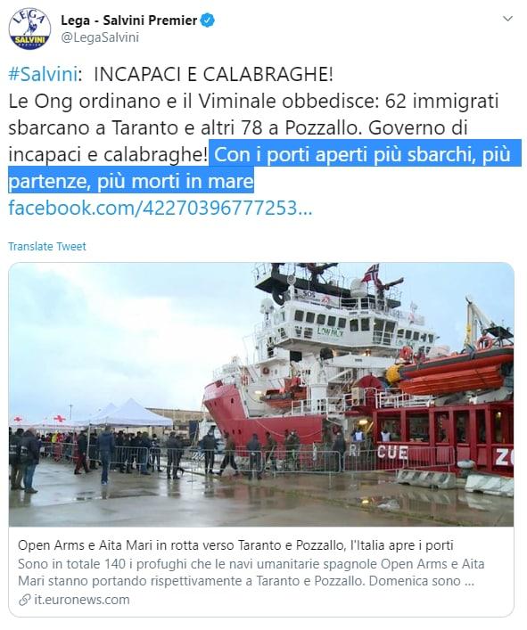 morti in mare ong salvini villa ispi - 4