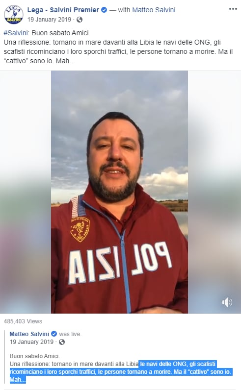 morti in mare ong salvini villa ispi - 6