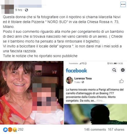 nonna bambino migrante morto - 2