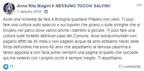 Perchè un carabiniere ha contattato la signora Biagini per c