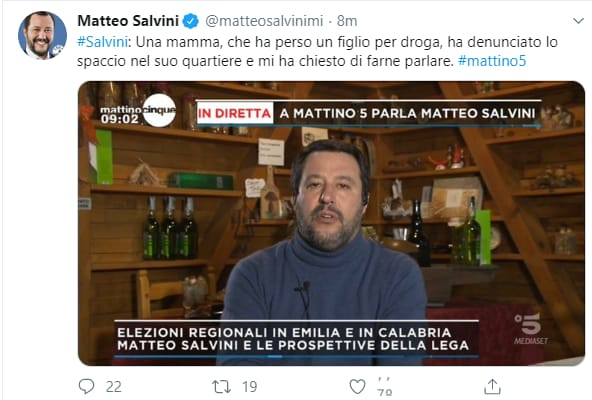 Emilia Romagna, l'ultima di Salvini: citofona a casa di un presunto spacciatore