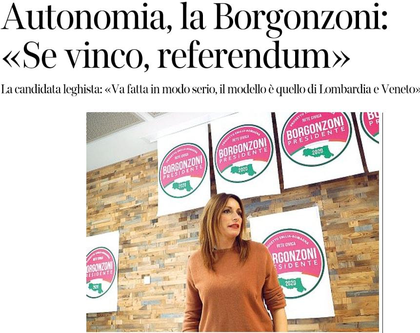 referendum autonomia lucia borgonzoni emilia-romagna