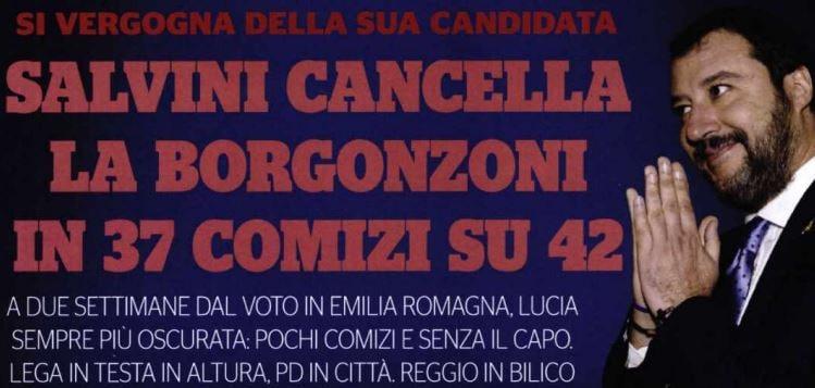 salvini cancella borgonzoni