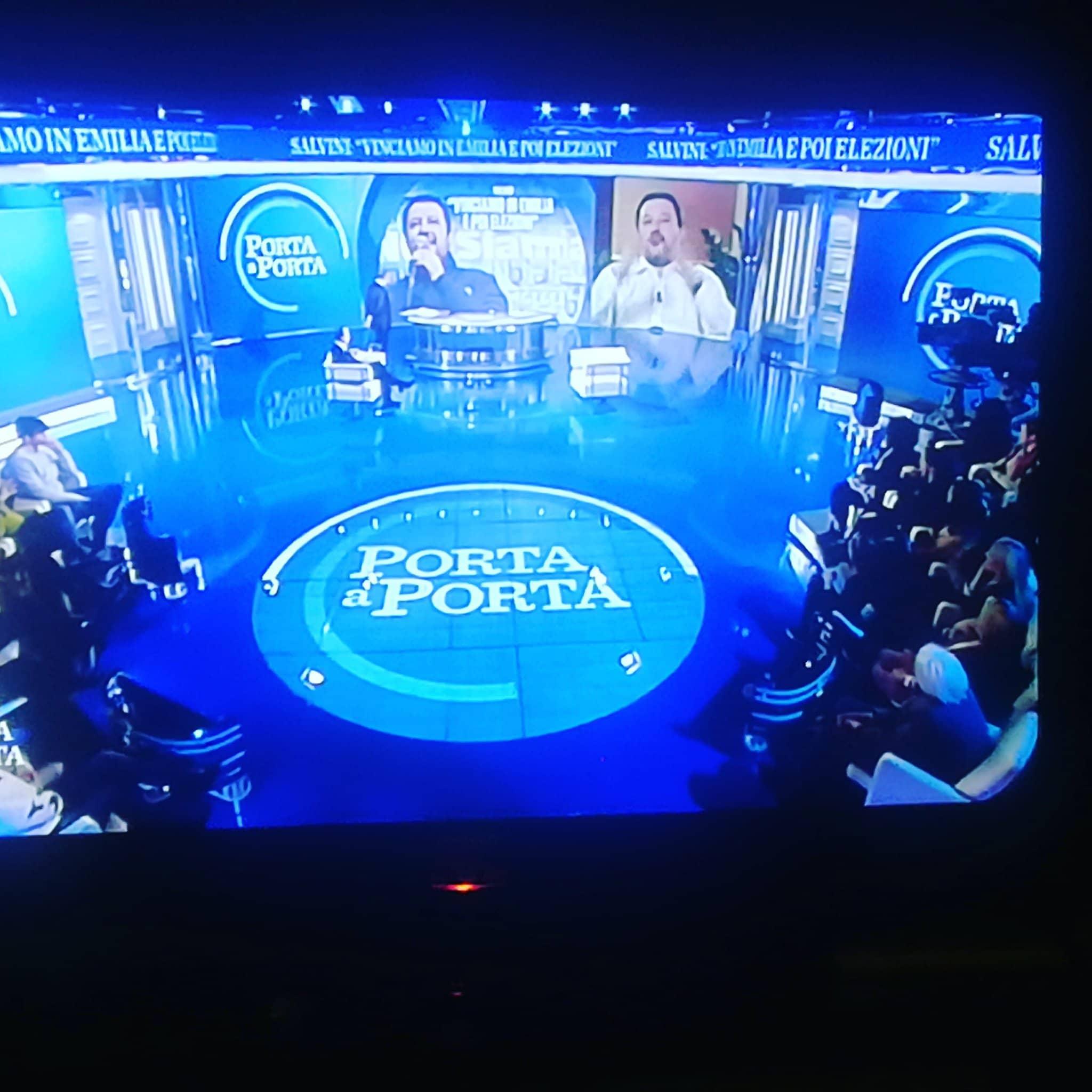 Porta a Porta: lo spot per Salvini nell'intervallo di Juvent