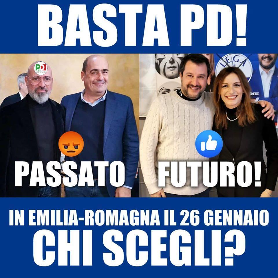stefano bonaccini lucia borgonzoni sondaggio pagina