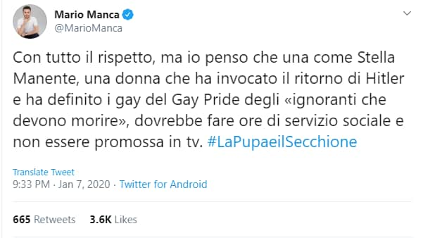 Stella Manente a La Pupa e il Secchione e Mediaset che sfrutta l'omofobia
