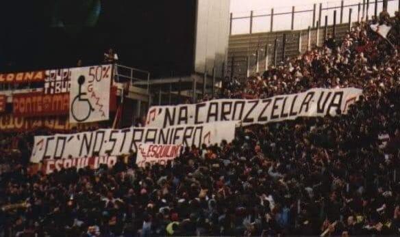 striscione tifosi roma gascoigne