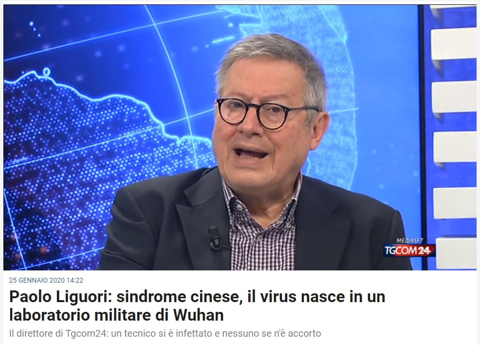 tgcom24 coronavirus liguori complotti - 2