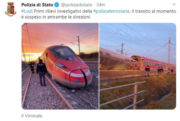 Frecciarossa 9595 Milano Salerno deragliato lodi manutenzione - 1