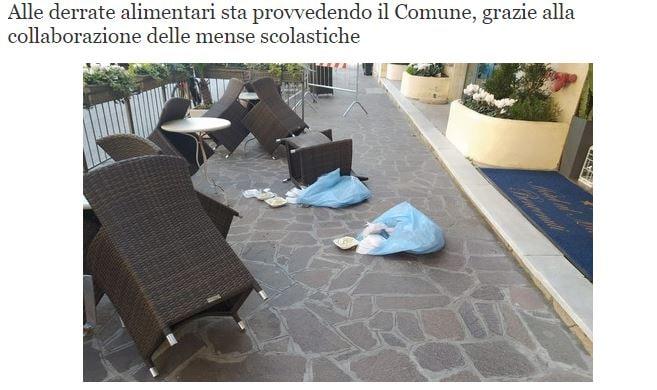 All'hotel Bel Sit di Alassio lanciano pasti dalla finestra p