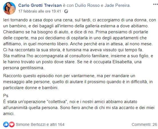 Carlo Grotti Trevisan: il consigliere leghista che accoglie
