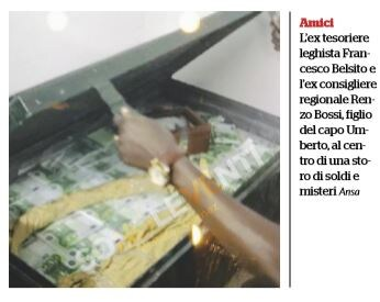 cassa di soldi belsito africa