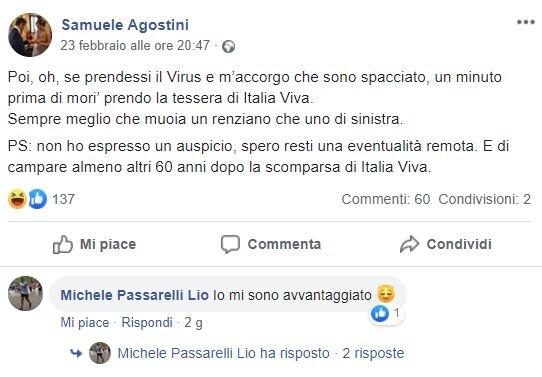 coronavirus agostini renziano uno di sinistra