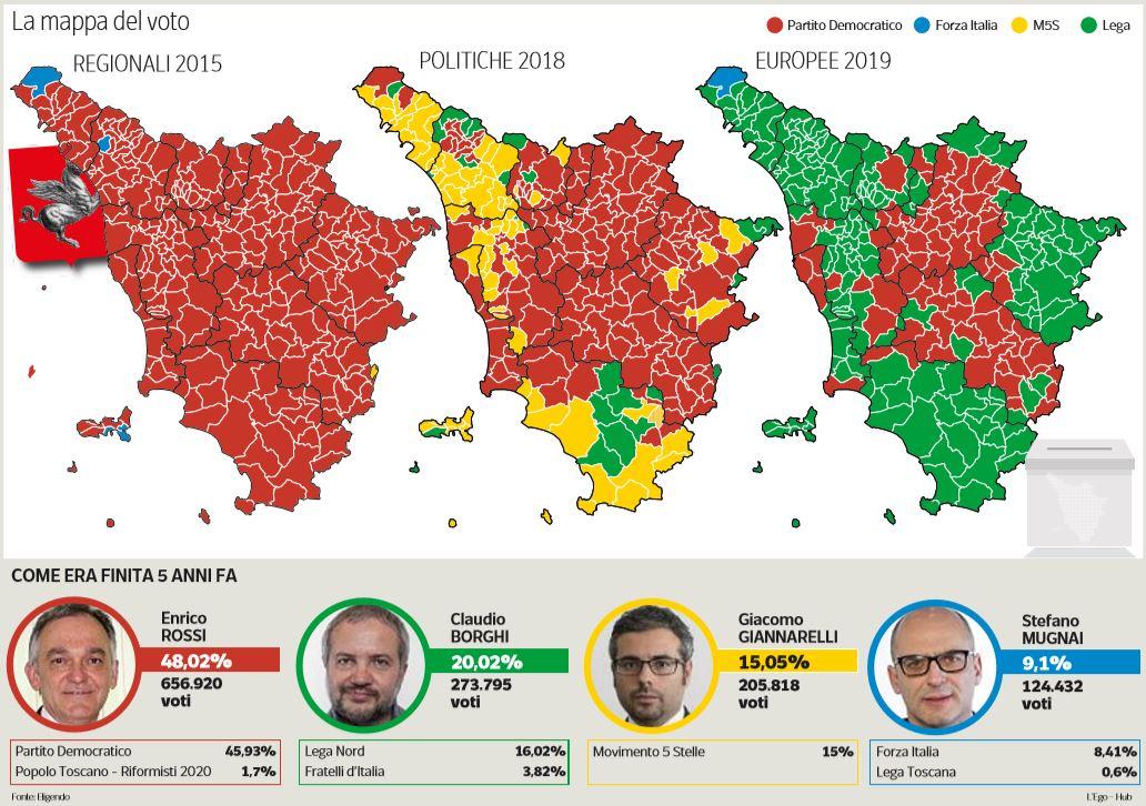 elezioni regionali toscana voto