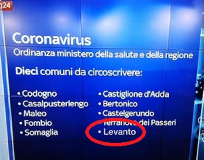 La fake news su Levanto in isolamento per il Coronavirus