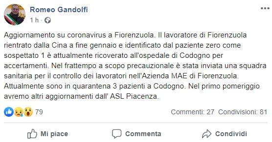 Coronavirus, i controlli all'azienda MAE di Fiorenzuola in p