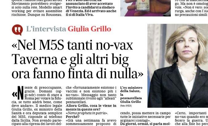 giulia grillo m5s no vax
