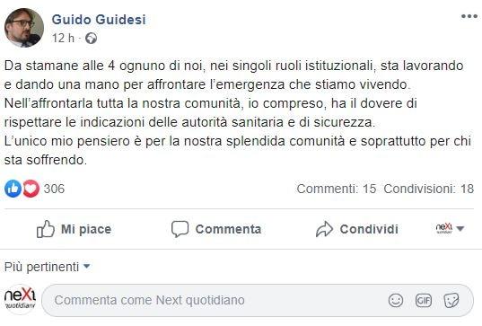 Guido Guidesi: il deputato della Lega in quarantena a Codogn