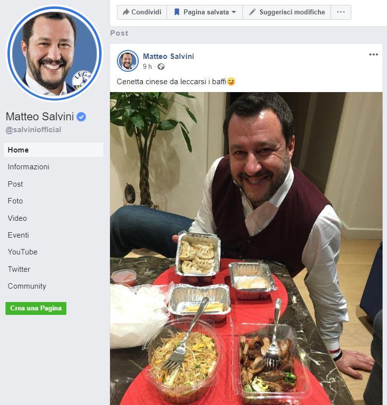 matteo salvini mangia cinese