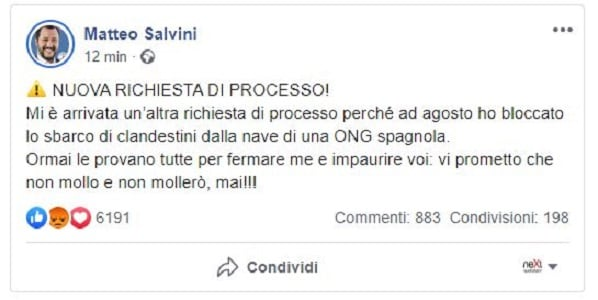 matteo salvini open arms