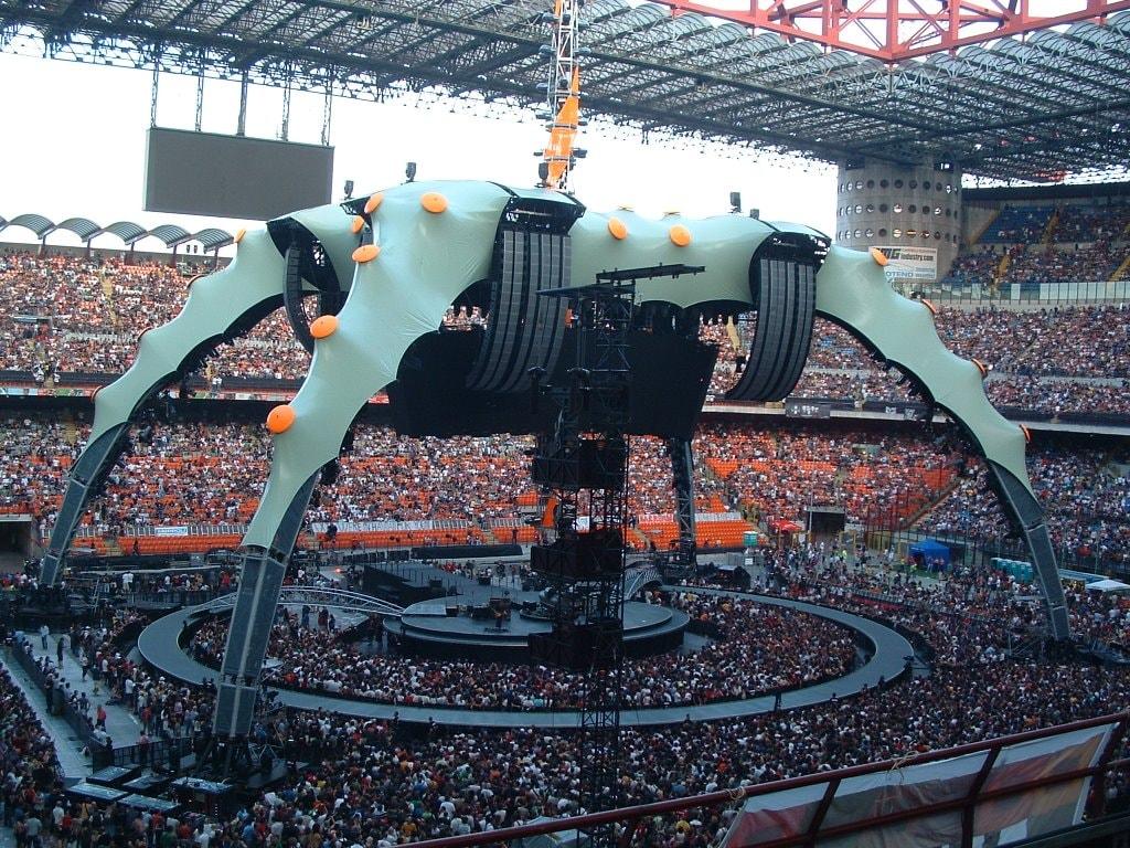 palco concerto u2