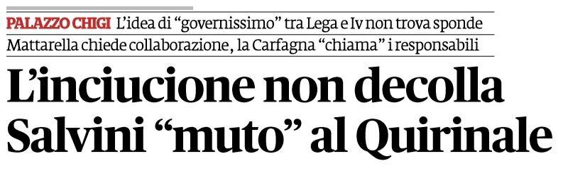Come Mattarella ha dato il due di picche a Salvini su govern