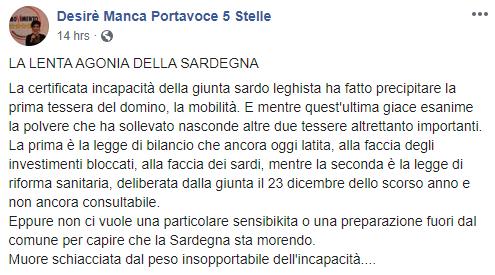 La lenta agonia della Sardegna governata dalla Lega