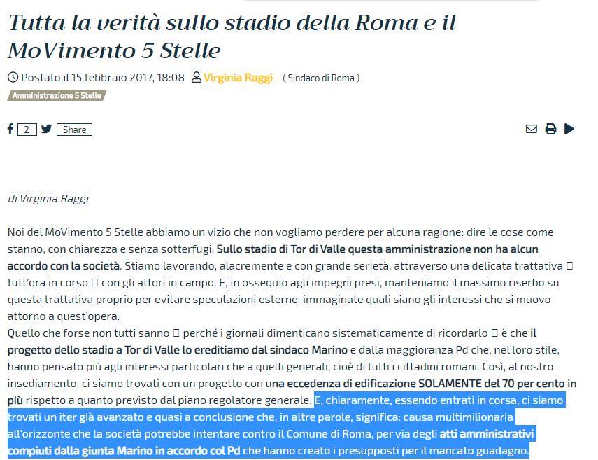 """Stadio della Roma a Tor di Valle, il parere """"segreto"""" dell'A"""