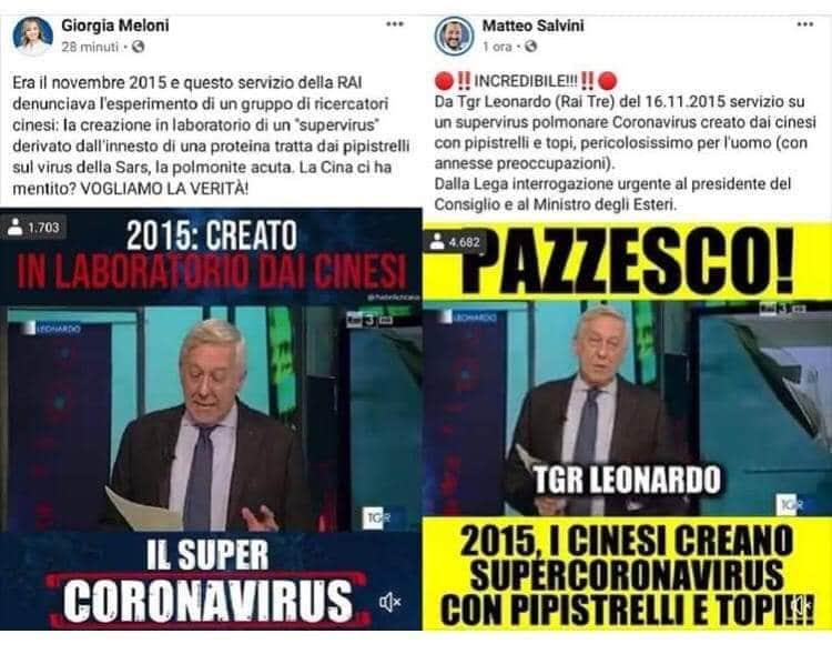 Il TGR Leonardo del 16 novembre 2015 dimostra solo che Salvini e Meloni sono due cialtroni