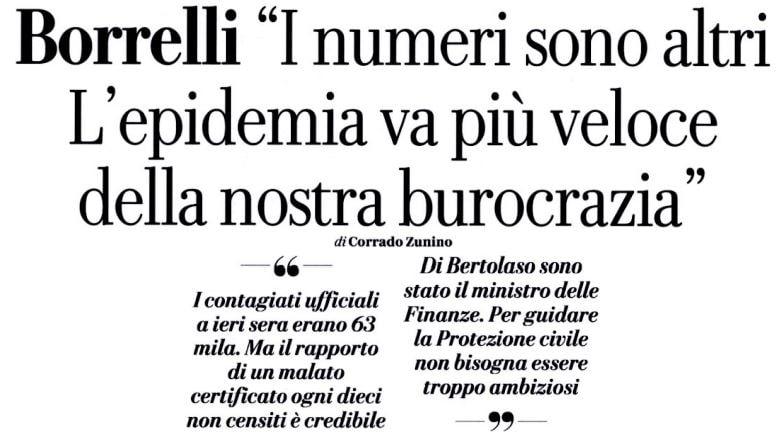 angelo borrelli coronavirus veloce burocrazia