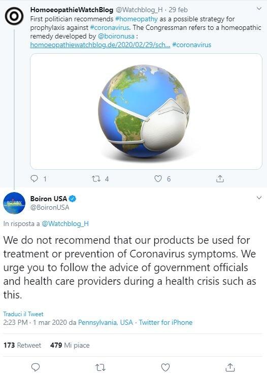 boiron omeopatia coronavirus