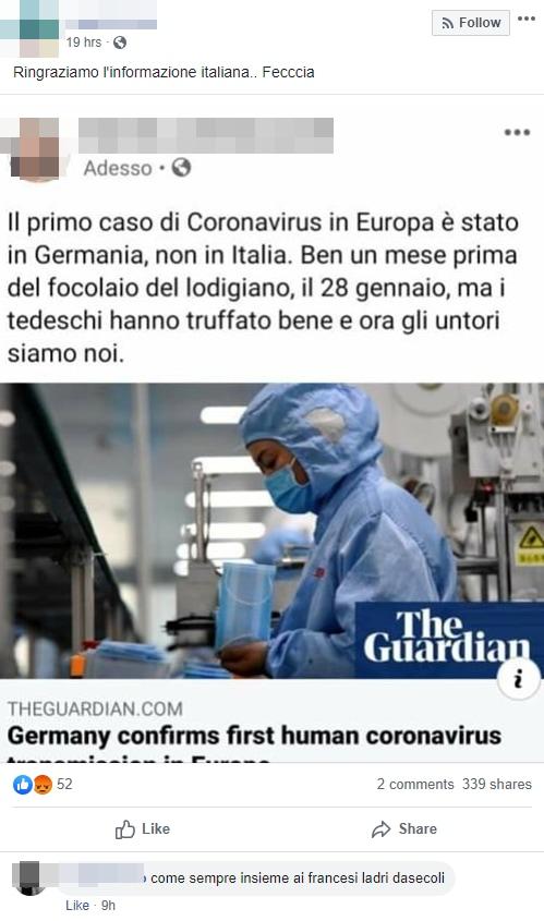 coronavirus ceppo germania - 4