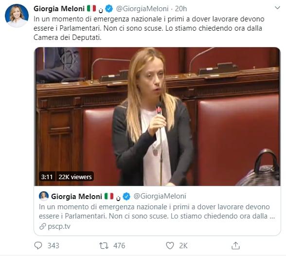 giorgia meloni convocazione parlamento - 1