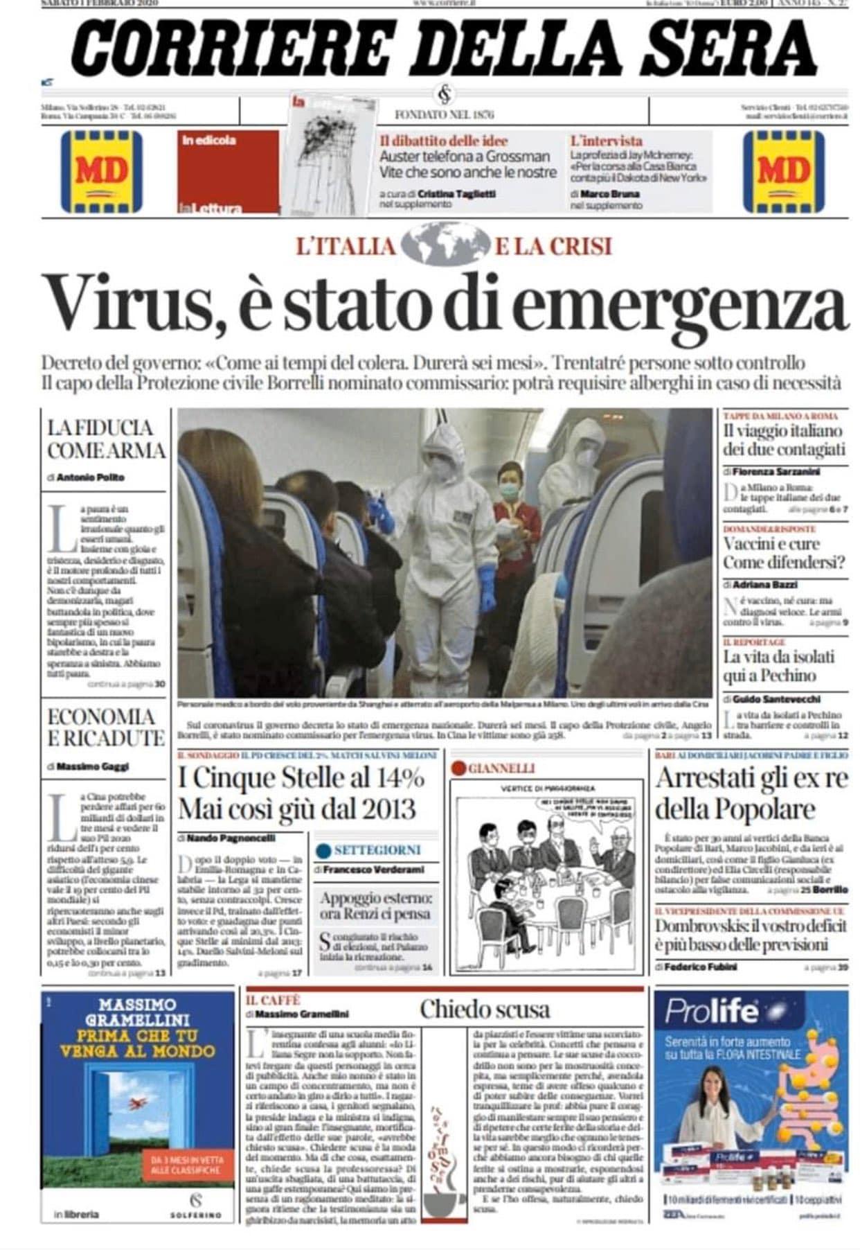 giornale 31 luglio fine dell'emergenza 1