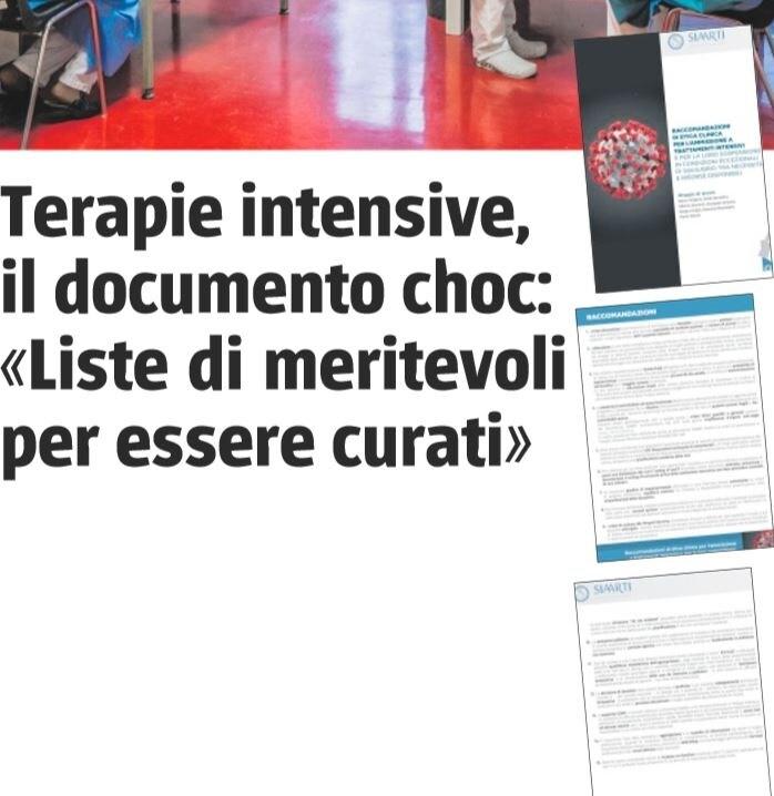 giornale documento segreto coronavirus 1