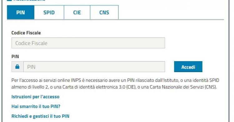 SCARICARE PIN INPS