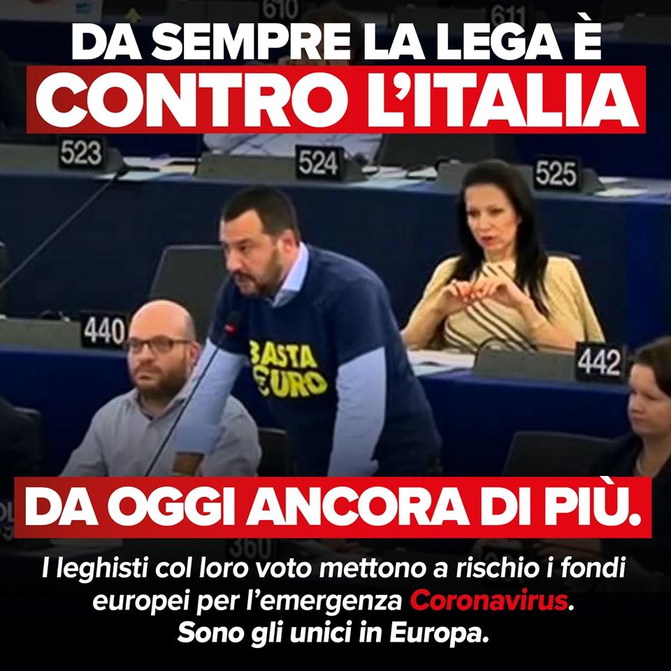 lega voto europa fondi coronavirus