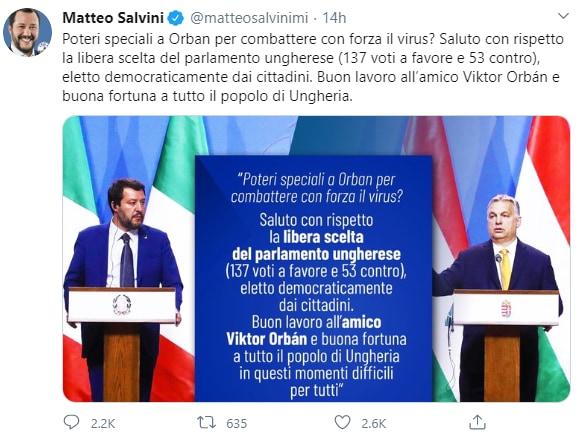 """Viktor Orban, ecco i 180 decreti dei """"pieni poteri"""". Via i s"""