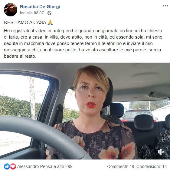 rosalba de giorgi video restiamo a casa in auto