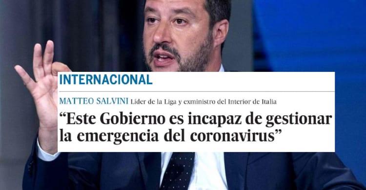 salvini el pais coronavirus emergenza sanitaria - 5