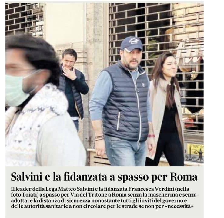 salvini fidanzata a spasso per roma 1