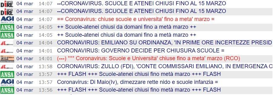 scuole chiuse 15 marzo