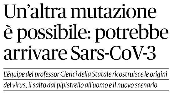 coronavirus mutazione sars-cov-3